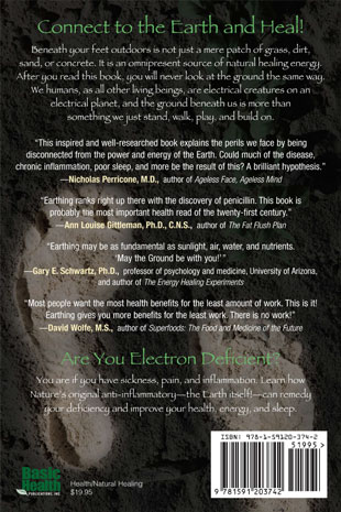 Earthing Book - back cover